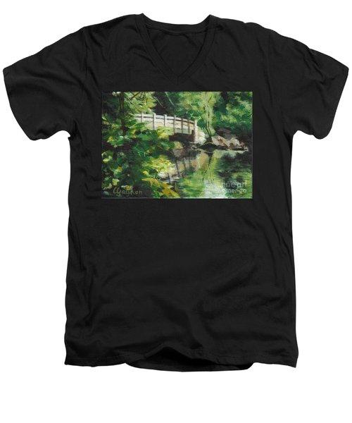 Concord River Bridge Men's V-Neck T-Shirt