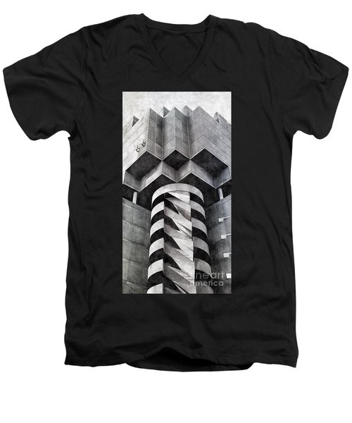 Concrete Geometry Men's V-Neck T-Shirt by Paul Wilford