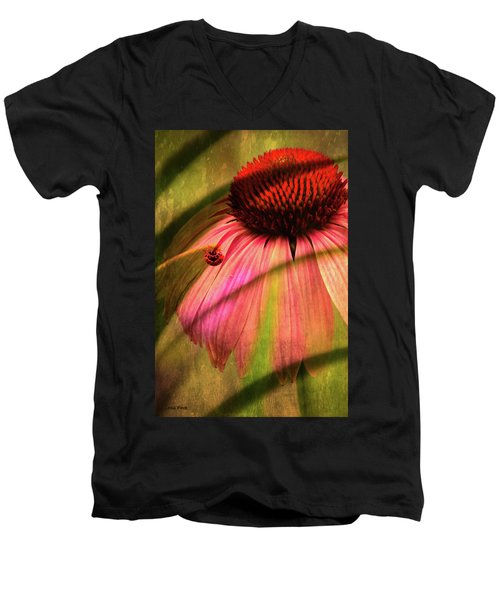 Cone Flower And The Ladybug Men's V-Neck T-Shirt