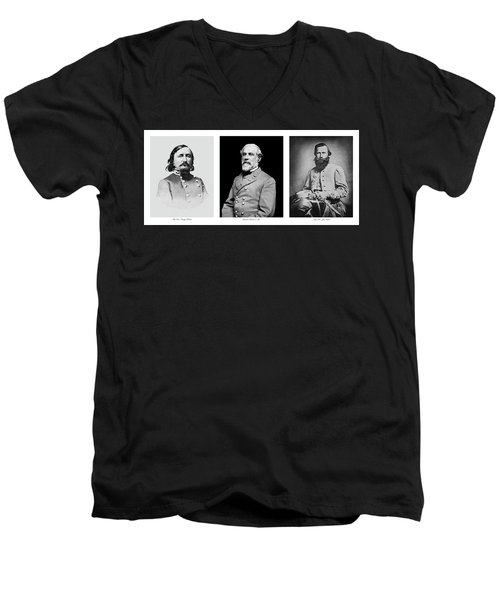 Men's V-Neck T-Shirt featuring the photograph Confederarte Triptych by Paul W Faust - Impressions of Light