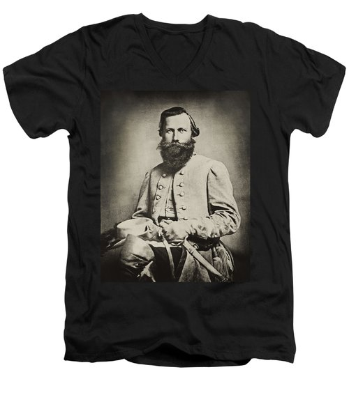 Confederate Jeb Stuart Men's V-Neck T-Shirt