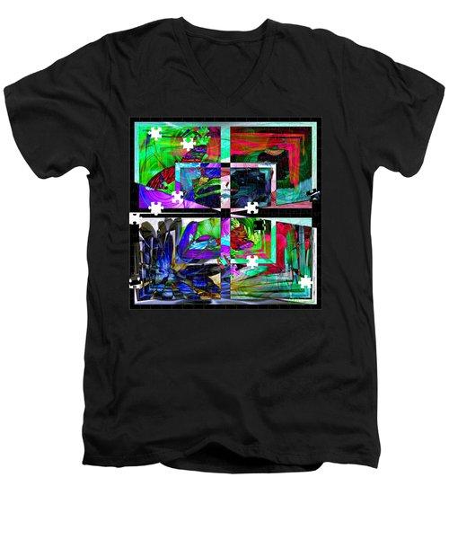 Confused Men's V-Neck T-Shirt