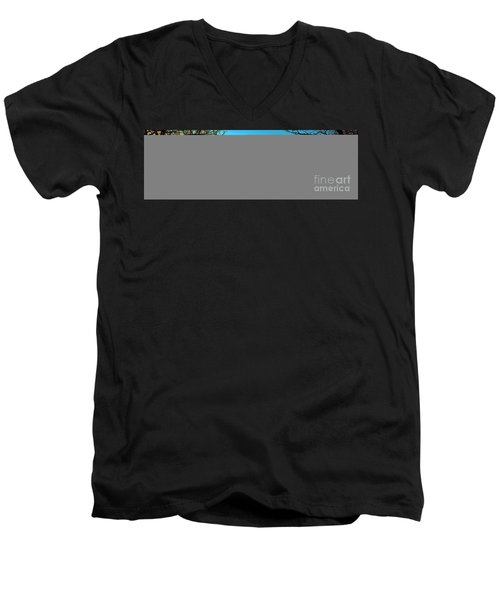 Men's V-Neck T-Shirt featuring the photograph Conley Road Winter  by Tom Jelen