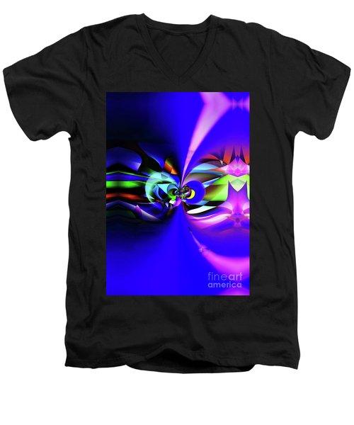 Connection 2 Men's V-Neck T-Shirt by Elaine Hunter