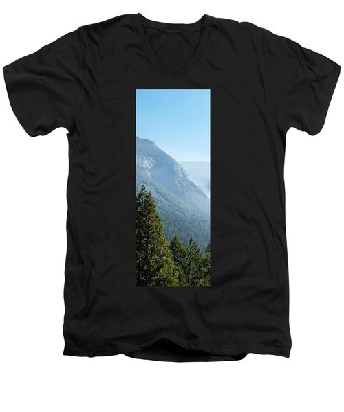 1 Of 4 Controlled Burn Of Yosemite Section Men's V-Neck T-Shirt