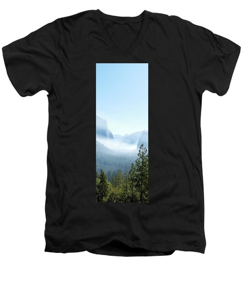 2 Of 4 Controlled Burn Of Yosemite Section Men's V-Neck T-Shirt