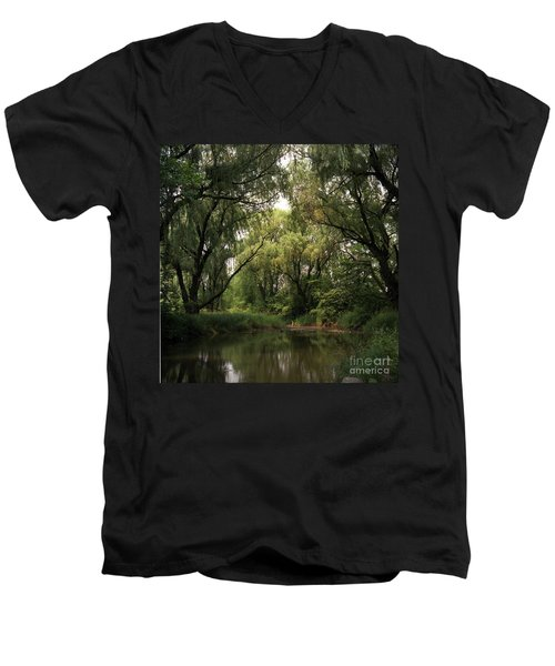 Cook County Forest Preserve No 6 Men's V-Neck T-Shirt by Kathy McClure