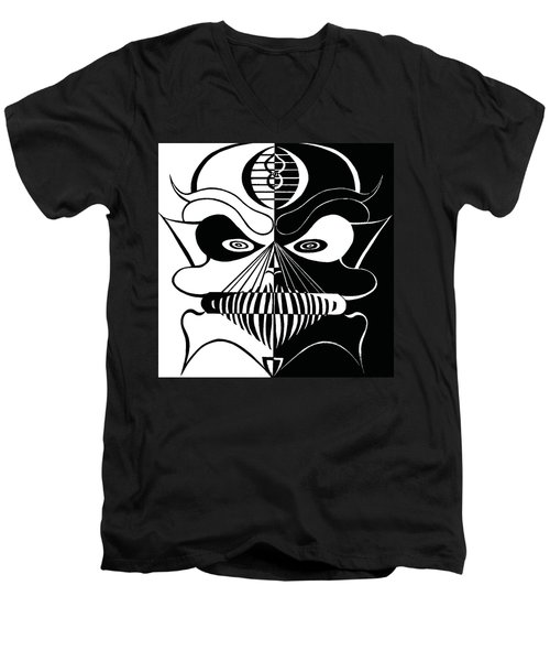 Cool Skull Men's V-Neck T-Shirt