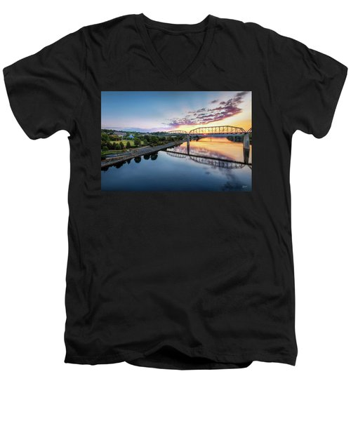 Coolidge Park Sunrise Men's V-Neck T-Shirt