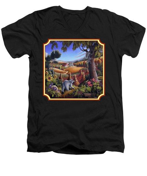 Coon Gap Holler Country Landscape - Square Format Men's V-Neck T-Shirt by Walt Curlee