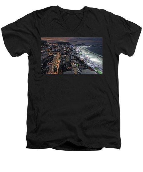 Copacabana Lights Men's V-Neck T-Shirt