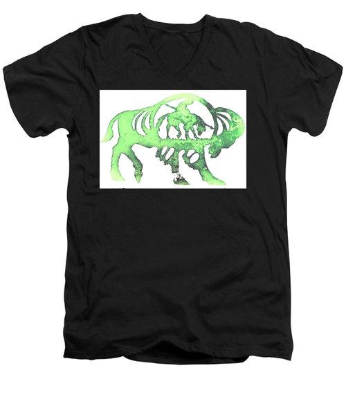 Copper Buffalo Men's V-Neck T-Shirt by Larry Campbell
