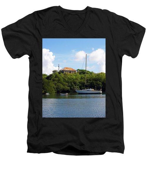 Coral Bay 1 Men's V-Neck T-Shirt
