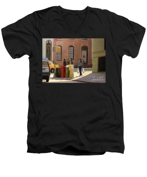 Corner Stop Men's V-Neck T-Shirt