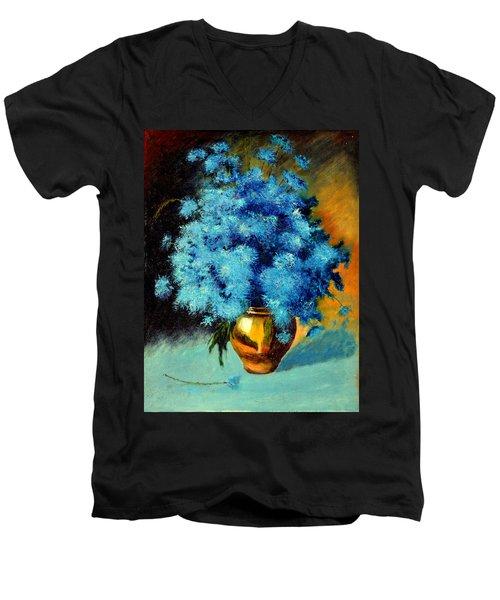Cornflowers Men's V-Neck T-Shirt