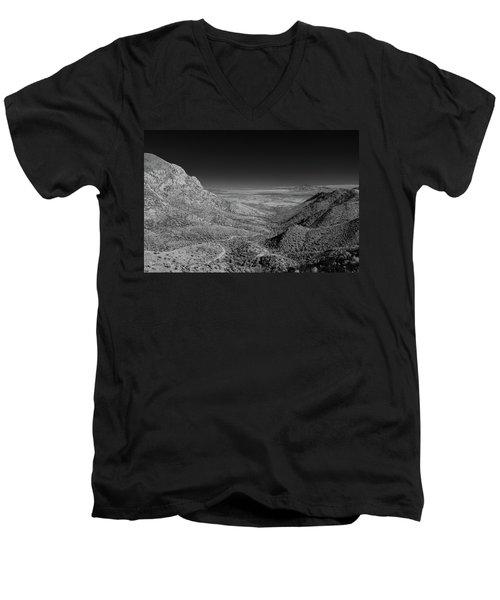 Coronado National Memorial In Infrared Men's V-Neck T-Shirt