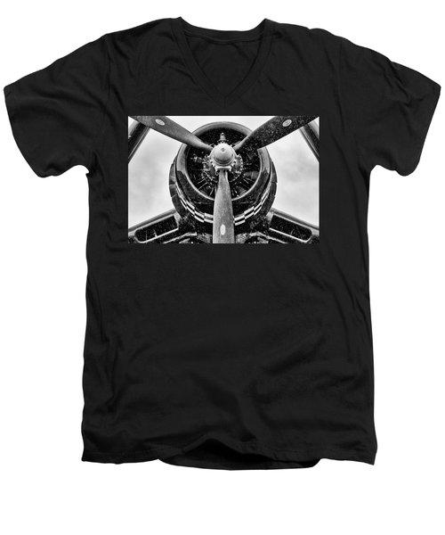 Corsair In Heavy Rain Men's V-Neck T-Shirt
