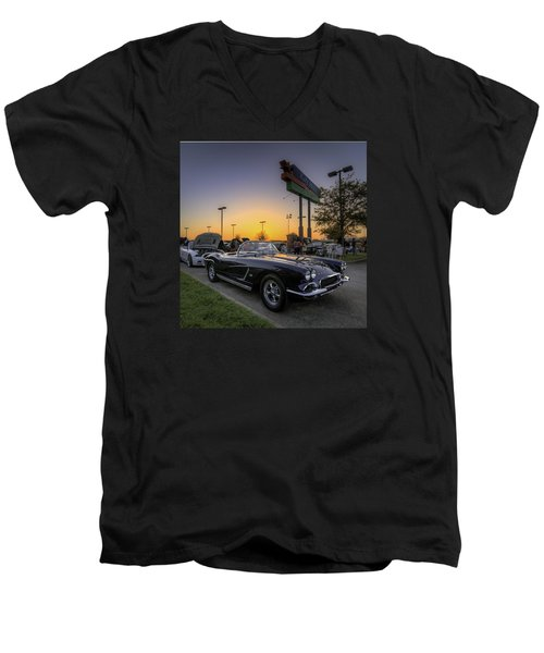 Corvette Sunset Men's V-Neck T-Shirt