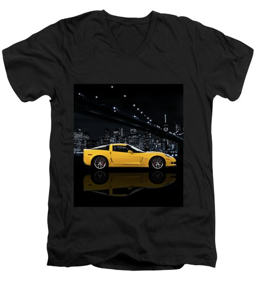 Corvette Z06 Gt1 Men's V-Neck T-Shirt
