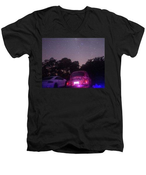 Cosmic Beetle 8 Men's V-Neck T-Shirt by Carolina Liechtenstein