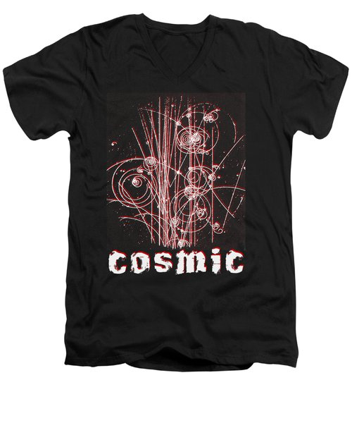 Men's V-Neck T-Shirt featuring the photograph Cosmic Bubbles by Robert G Kernodle