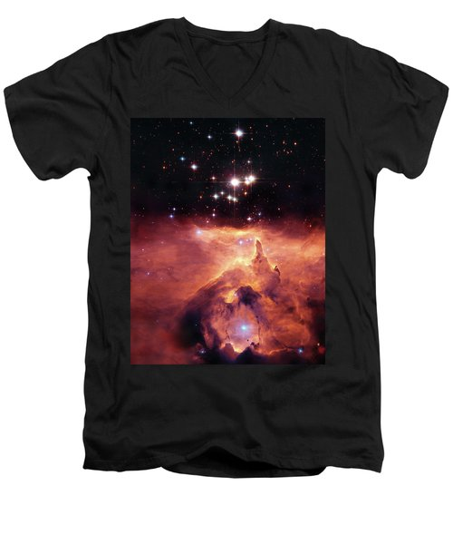 Cosmic Cave Men's V-Neck T-Shirt by Jennifer Rondinelli Reilly - Fine Art Photography