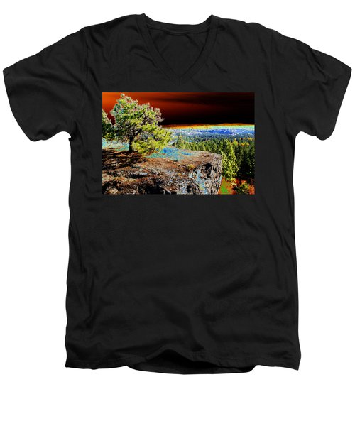 Cosmic Spokane Rimrock Men's V-Neck T-Shirt