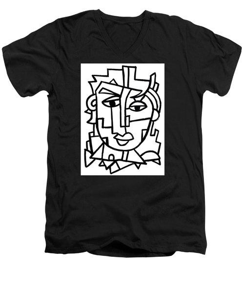 Cosmopolitan Man - Painting Men's V-Neck T-Shirt
