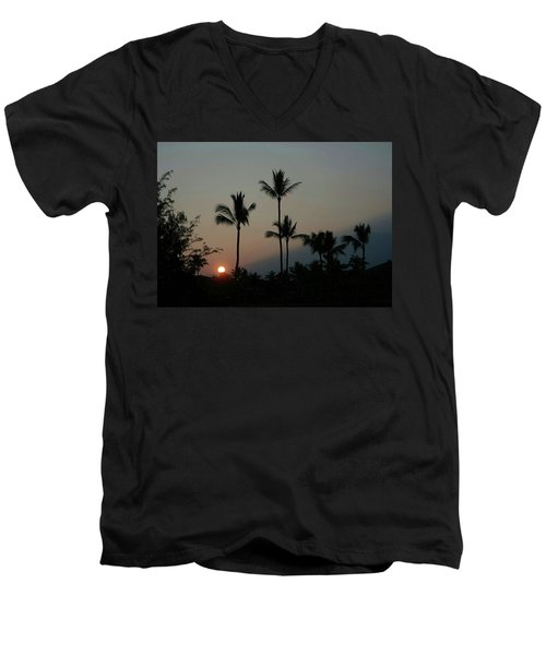 Costa Rican Mountain Sunset Men's V-Neck T-Shirt