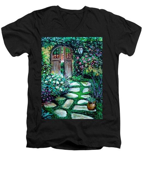 Cottage Gates Men's V-Neck T-Shirt