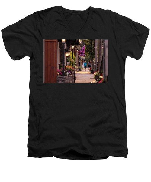 Cottage Street Stroll Men's V-Neck T-Shirt