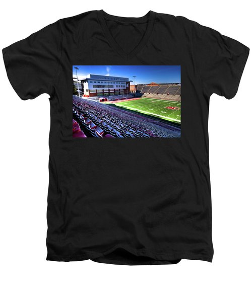 Cougar Football Complex At Martin Stadium Men's V-Neck T-Shirt