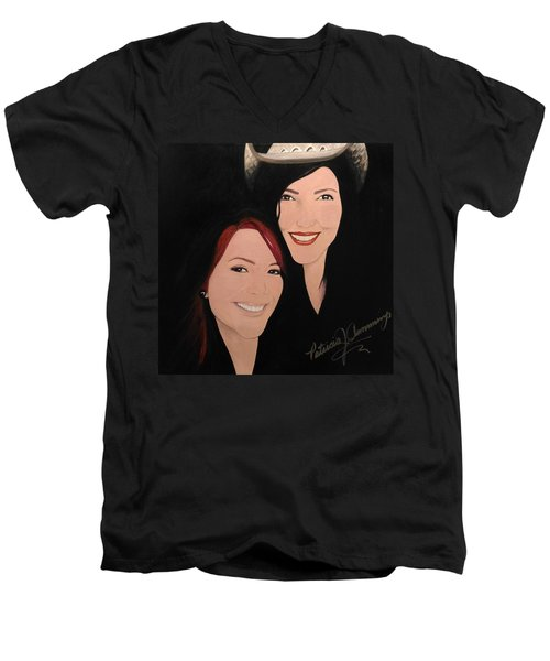 Cougrzz Rock Duo Men's V-Neck T-Shirt