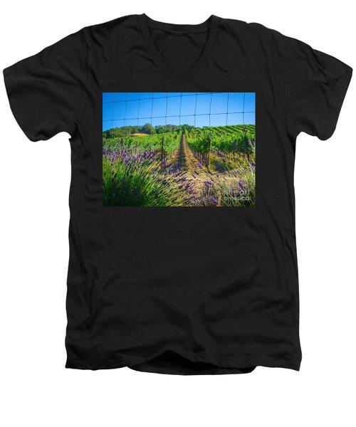 Country Lavender V Men's V-Neck T-Shirt