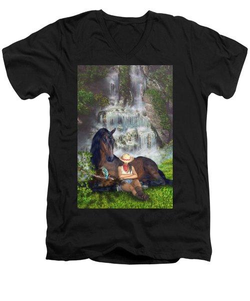Country Memories 1 Men's V-Neck T-Shirt