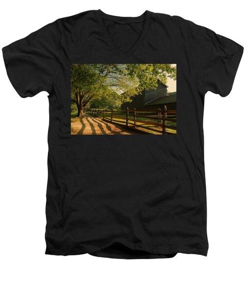 Country Morning - Holmdel Park Men's V-Neck T-Shirt