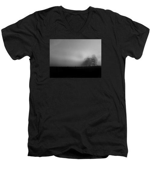 Country Morning Vision Georgia Usa Men's V-Neck T-Shirt