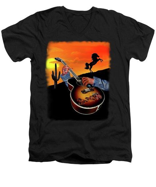 Country Music Men's V-Neck T-Shirt