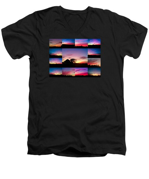 Men's V-Neck T-Shirt featuring the photograph Countryside Beauty by Carlee Ojeda