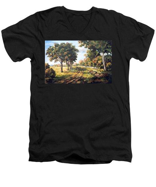 Countryside Men's V-Neck T-Shirt by Alexandra Maria Ethlyn Cheshire