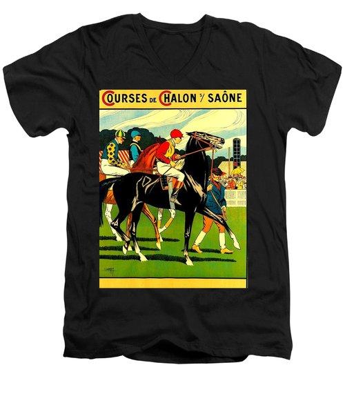 Courses De Chalon French Horse Racing 1911 II Men's V-Neck T-Shirt