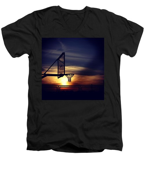 Court Men's V-Neck T-Shirt by Jun Pinzon