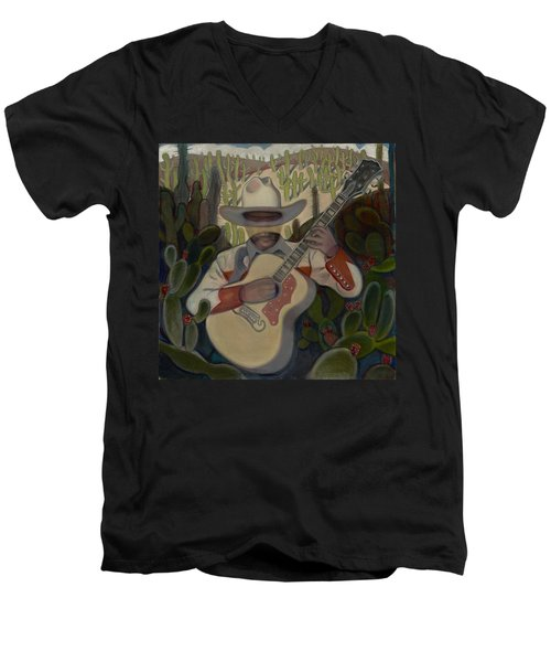 Cowboy In The Cactus Men's V-Neck T-Shirt