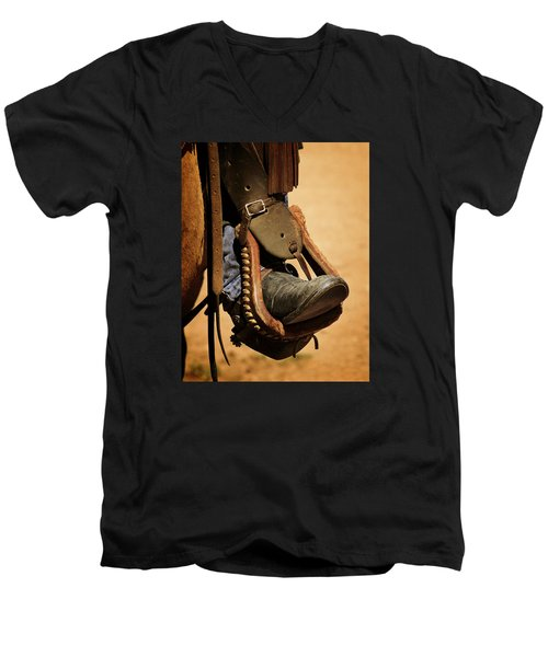 Cowboy Up Men's V-Neck T-Shirt