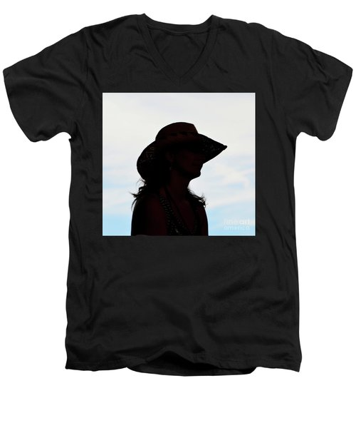 Cowgirl In The Sky Men's V-Neck T-Shirt
