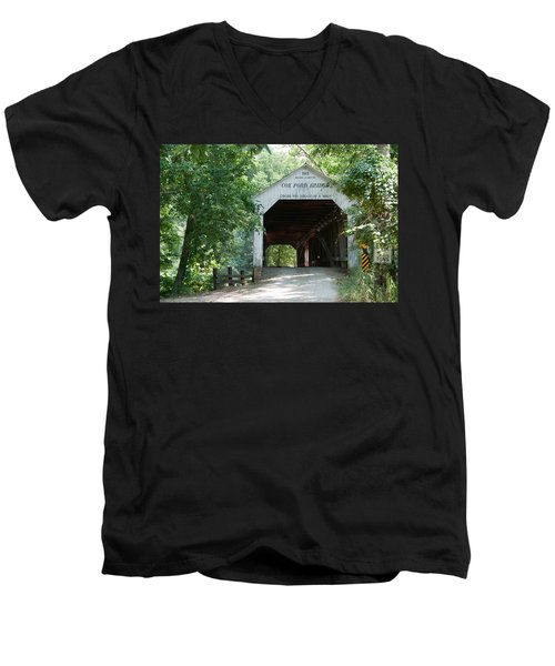 Cox Ford Bridge Men's V-Neck T-Shirt