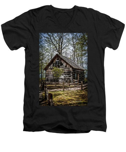 Cozy Cabin Men's V-Neck T-Shirt
