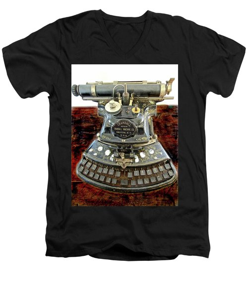 Crandall Type Writer 1893 Men's V-Neck T-Shirt