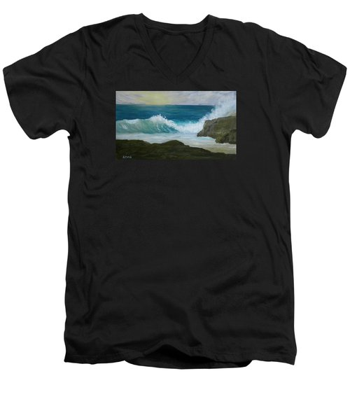 Crashing Wave 3 Men's V-Neck T-Shirt