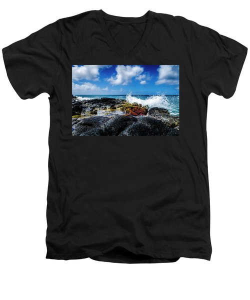 Crashing Waves Men's V-Neck T-Shirt